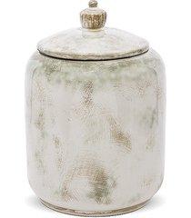 pojemnik ceramiczny z pokrywą etno
