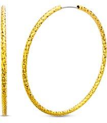 steve madden diamond-cut hoop earring