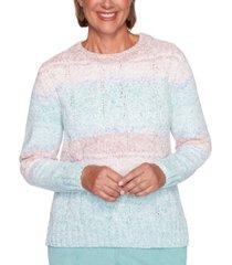 alfred dunner petite st. moritz chenille biadere sweater