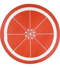jogo americano redondo frutas laranja 38cm