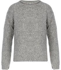 anneclaire crew neck sweater w/pokcet