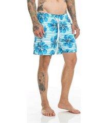 bermuda offert beach short floral masculina - masculino