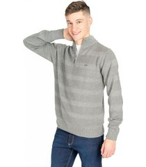 sweater gris pato pampa punto combinado melange gris