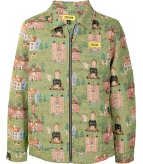 chinatown market woven tapestry jacket - green