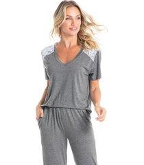 pijama longo com bolso letícia