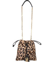 moschino leopard bag with drawstring