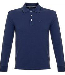jacob cohen j494 cobalt blue polo shirt