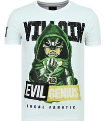 t-shirt korte mouw local fanatic villain duck - strakke t-shirt - 6325w -