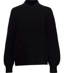 galia knit t-neck gebreide trui zwart second female