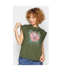 camiseta colcci estampada bordado manual feminina