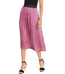 women's helene berman pleated skirt, size x-large - pink