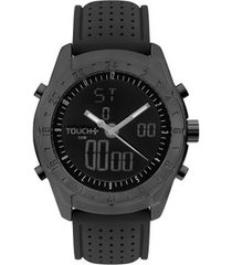 relógio touch unissex performa preto twbj3615ac/8p twbj3615ac/8p