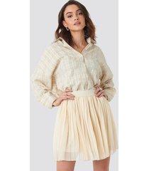 na-kd mini pleated skirt - beige