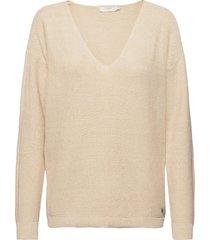 crsillar pullover stickad tröja beige cream