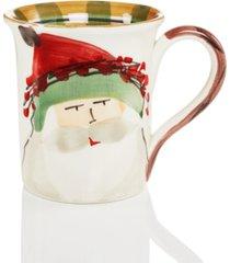 vietri old st. nick green hat mug