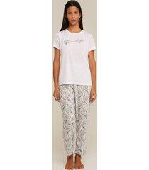 pijama camiseta con screen y pantalón largo estampado-s