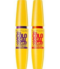 kit máscara de cílios maybelline the colossal super filme+colossal lavável