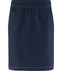 gonna in maglina elasticizzata effetto jeans (blu) - john baner jeanswear