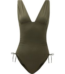 chile ruched swimsuit