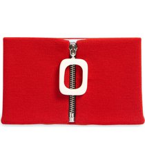 jw anderson merino wool neckband scarf, size one size - red