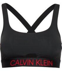 square neck bralette bikinitop svart calvin klein