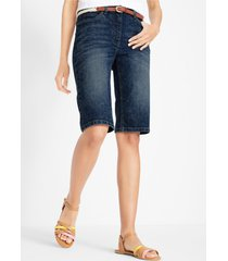 comfort stretch jeans short met comfortband in used look