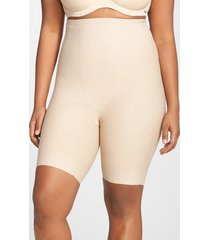 plus size women's tc shaping high waist thigh slimmer, size 3x - beige (plus size) (online only)