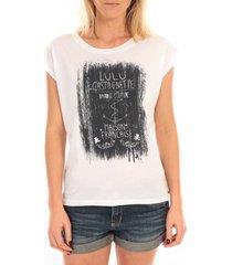 blouse lulucastagnette top luna print blanc