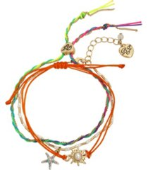 betsey johnson starfish charm friendship bracelet set