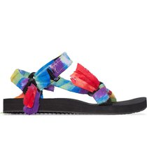 arizona love bandana knotted flat sandals - blue