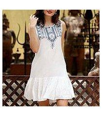 beaded dress, 'summer stroll' (india)