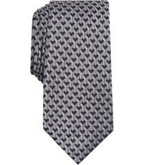 alfani men's slim geometric tie, created for macy's