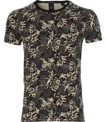 scotch & soda t-shirt - slim fit - bruin