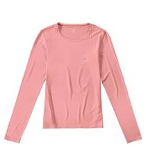 t-shirt malwee manga longa em viscolycra rosa
