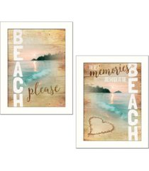 """trendy decor 4u beach please collection by marla rae, printed wall art, ready to hang, white frame, 28"""" x 14"""""""