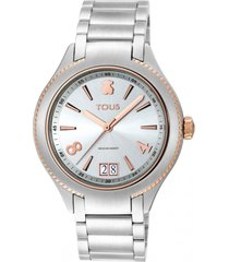 reloj st bicolor de acero/ip rosa tous
