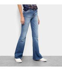 calça jean coca cola flare feminina