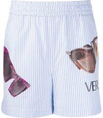 striped sunglasses print shorts