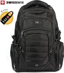 mens black backpack wenger swissgear big travel backpack waterproof men bagpack