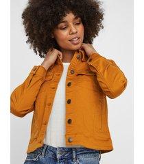 chaqueta vero moda hot soya ls jacket camel - calce ajustado