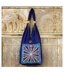 cotton handbag, 'star shine' (thailand)