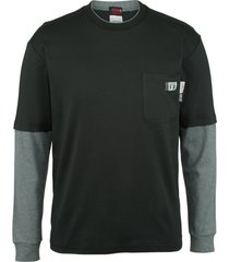 wolverine men's fr miter long sleeve tee black, size m