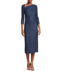 st. john women's sequin knit sheath dress - blue - size 2