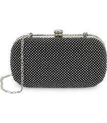 la regale women's crystal mesh clutch - silver