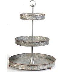 "3-tier tin metal tray 17""x23.6"" - 33929"