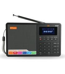 d1 portátil radio fm estéreo dab / rds varias bandas del altavoz de radio del tf de la tarjeta negro