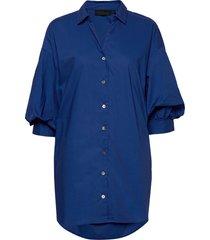 chillykb long shirt overhemd met korte mouwen blauw karen by simonsen