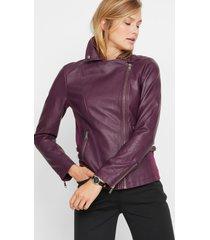 imitatieleren jas in biker stijl