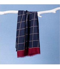 lenço emile cor: azul - tamanho: único
