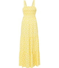 abito lungo in viscosa sostenibile (giallo) - rainbow